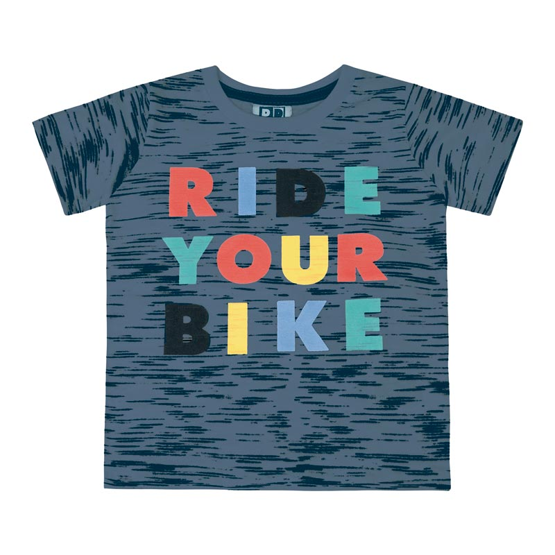 Camiseta DDK Infantil Menino Ride Your Bike Azul