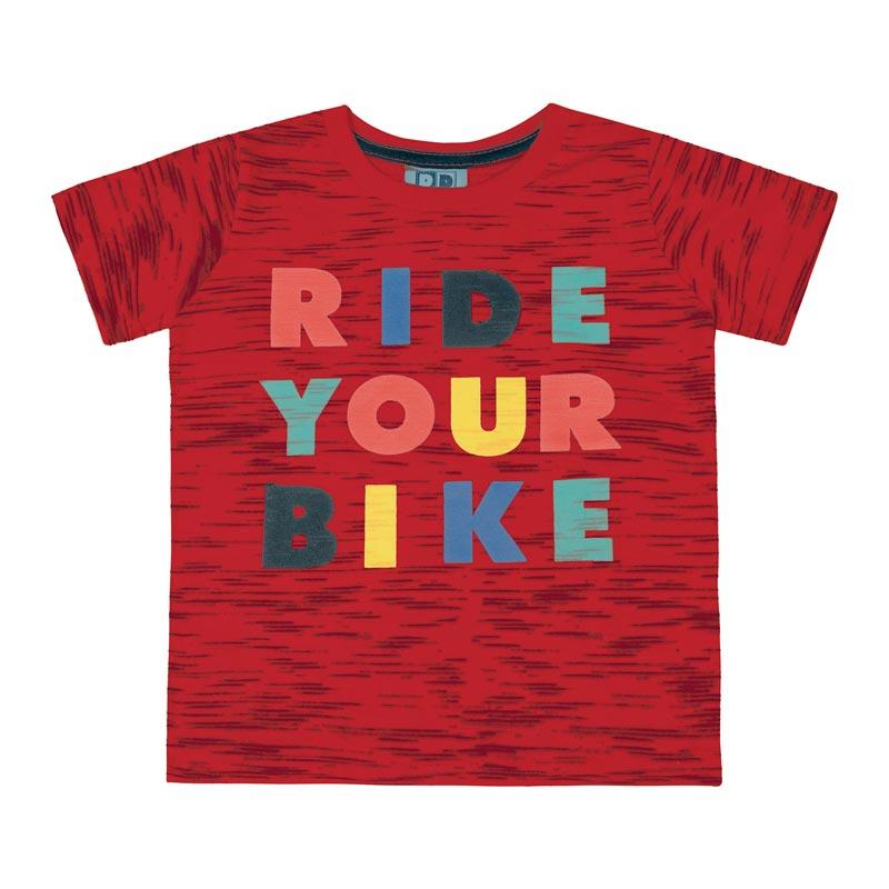 Camiseta DDK Infantil Menino Ride Your Bike Vermelho