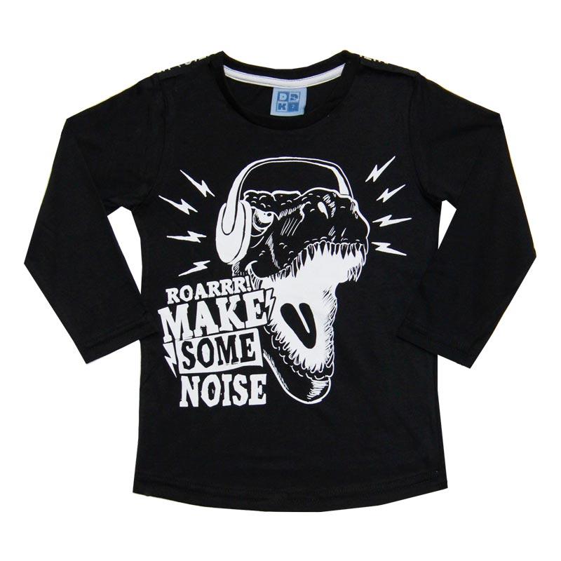 Camiseta DDK Infantil Menino Roarrr Preto