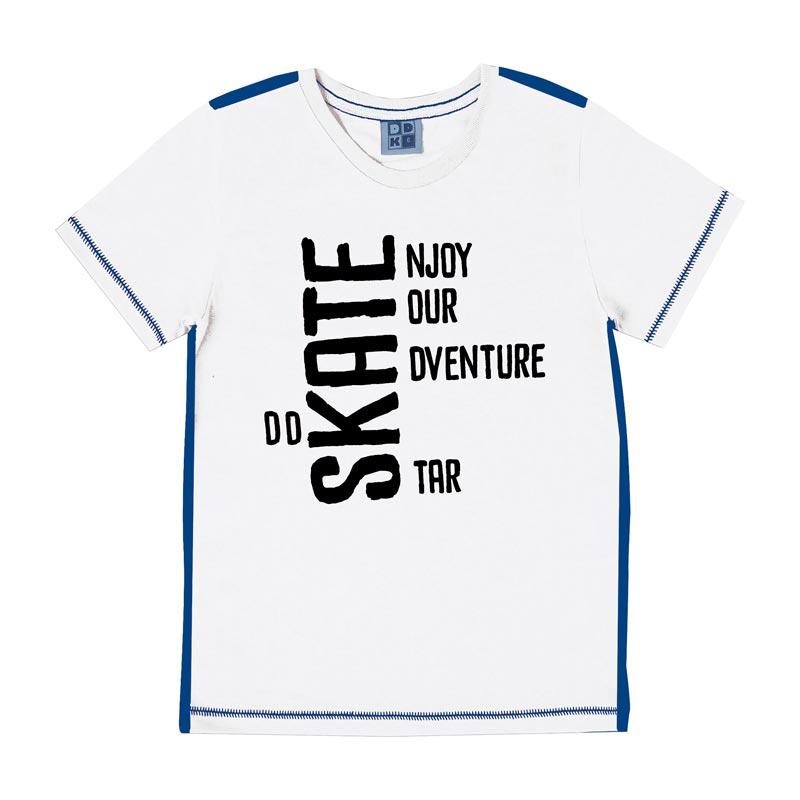 Camiseta DDK Infantil Menino Skate Branco