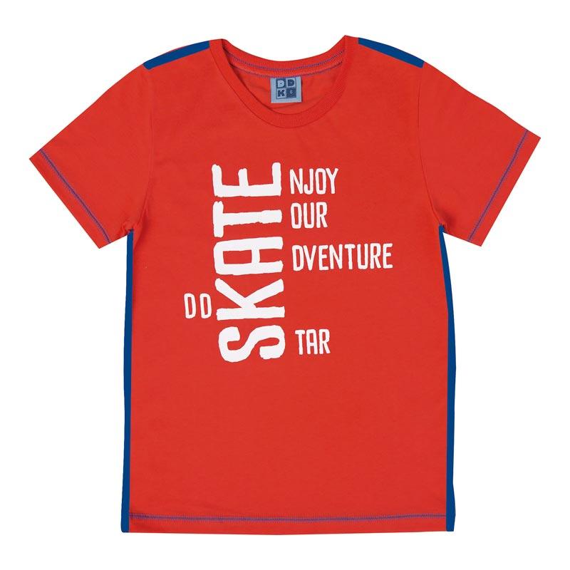 Camiseta DDK Infantil Menino Skate Laranja