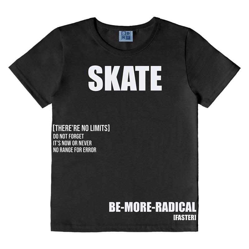 Camiseta DDK Infantil Menino Skate Preto