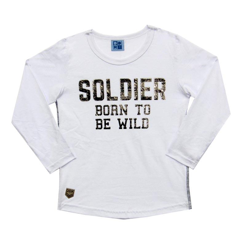 Camiseta DDK Infantil Menino Soldier Branco