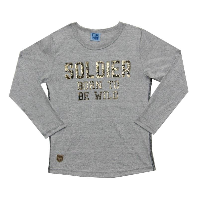 Camiseta DDK Infantil Menino Soldier Cinza