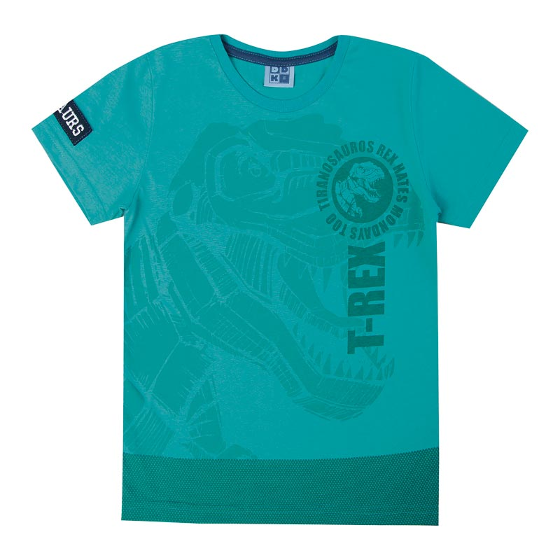 Camiseta DDK Infantil Menino T- Rex Verde