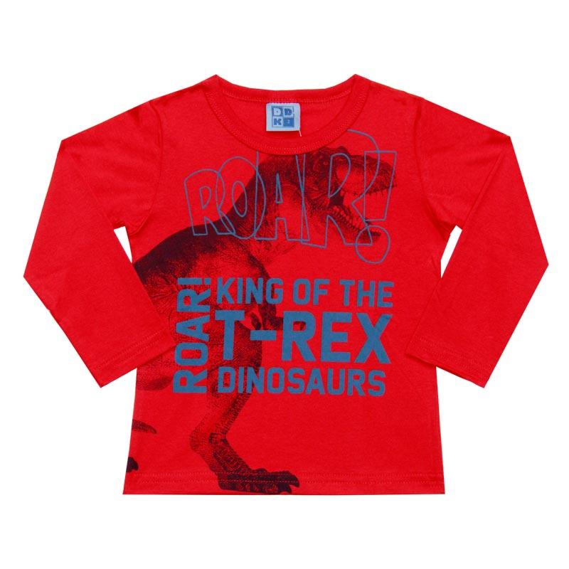 Camiseta Menino King T-Rex - DDK