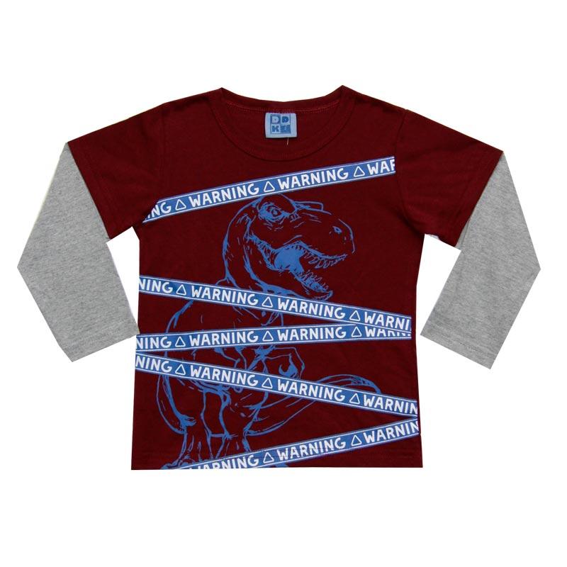 Camiseta DDK Infantil Menino Warning Bordo