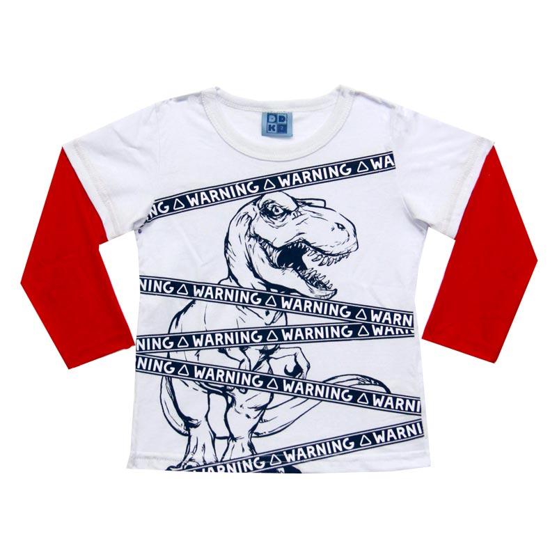 Camiseta DDK Infantil Menino Warning Branco