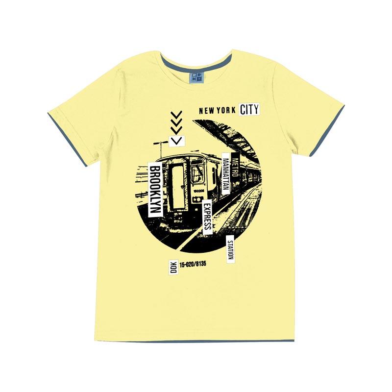 Camiseta DDK Juvenil Menino New York Amarelo