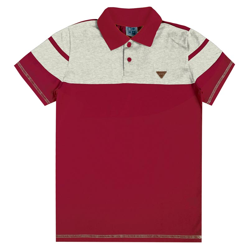 Camiseta DDK Juvenil Menino Two Colors Vermelho