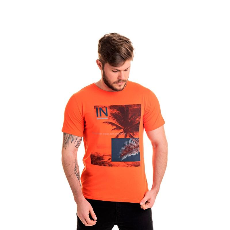 Camiseta Decoy Adulto Coqueiro Laranja