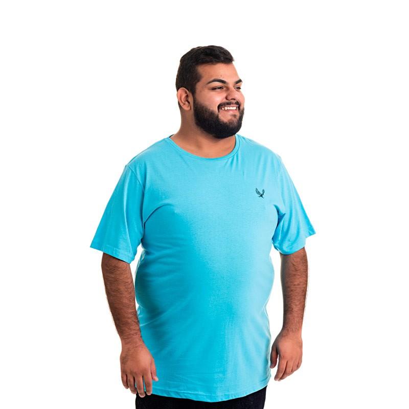 Camiseta Decoy Plus Size Masculino Básica Águia Azul