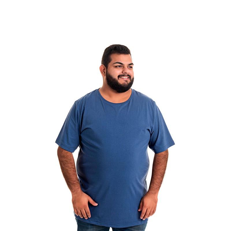 Camiseta Decoy Plus Size Masculino Básica Azul