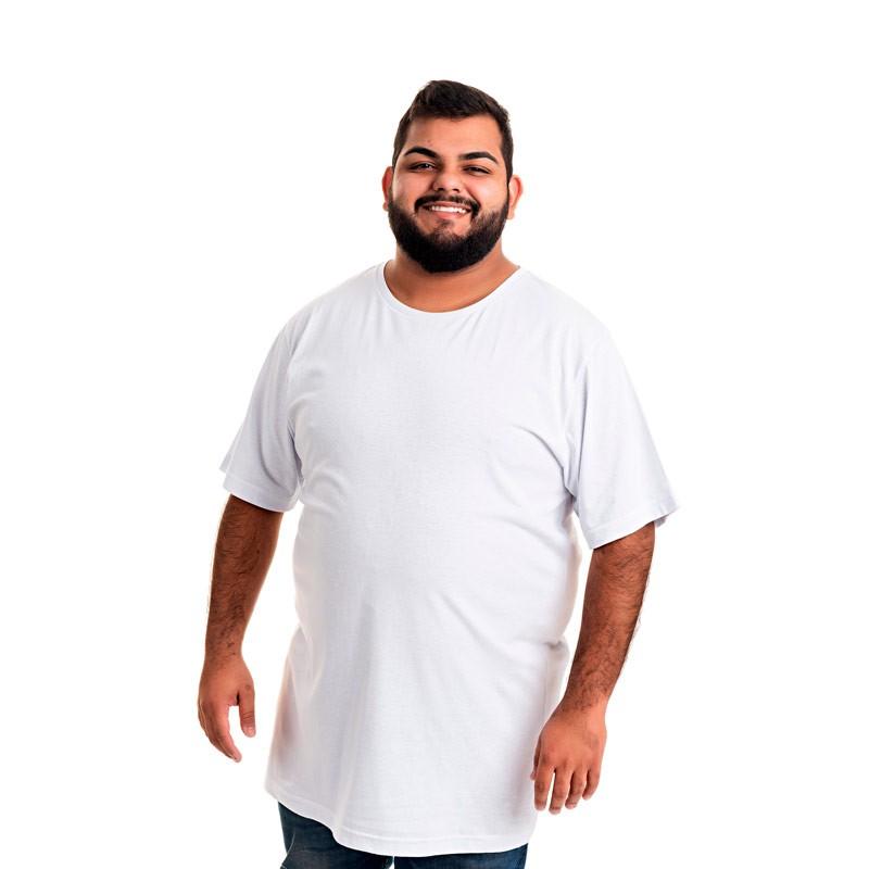 Camiseta Decoy Plus Size Masculino Básica Branco