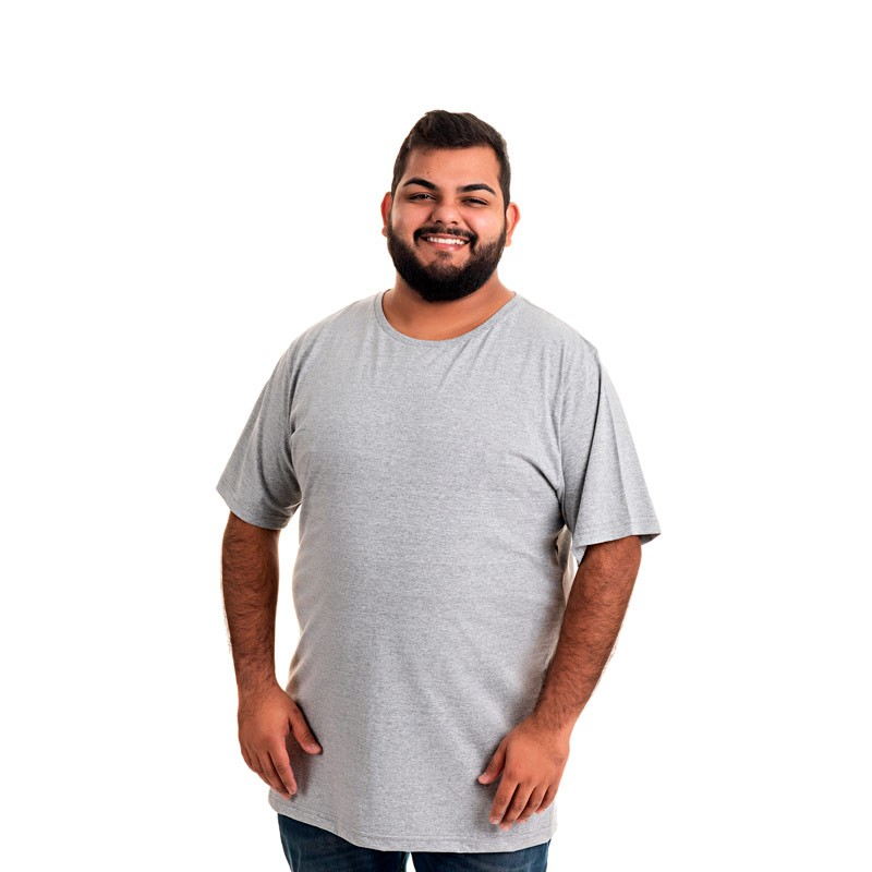 Camiseta Decoy Plus Size Masculino Básica Cinza