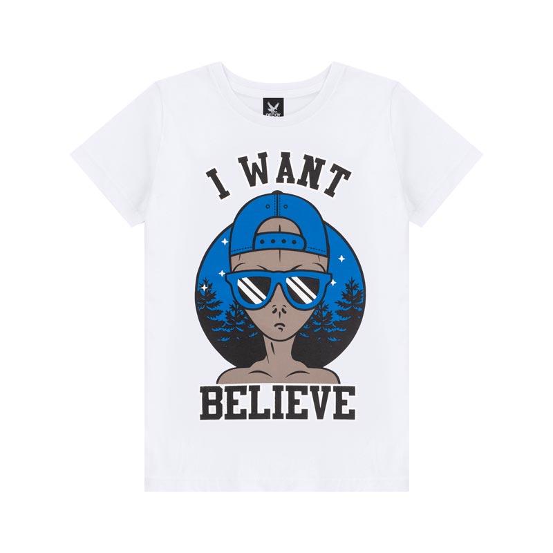 Camiseta Decoy Juvenil Masculino Believe Branco