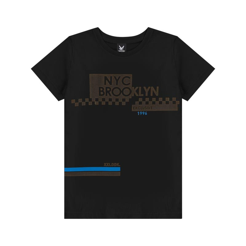 Camiseta Decoy Juvenil Masculino Brooklyn  Preto