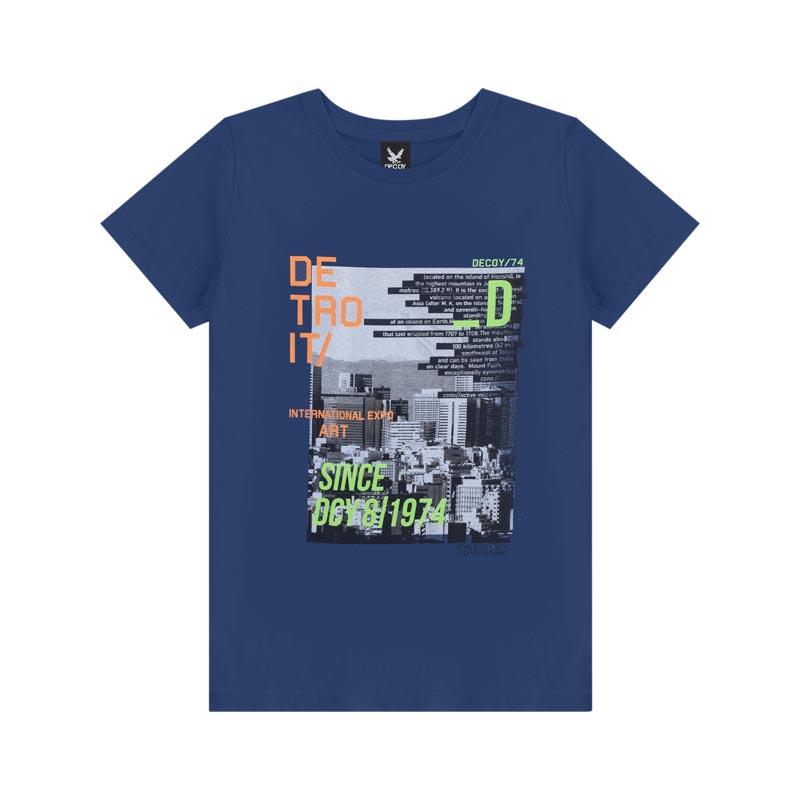 Camiseta Decoy Adulto Masculino Detroit Azul