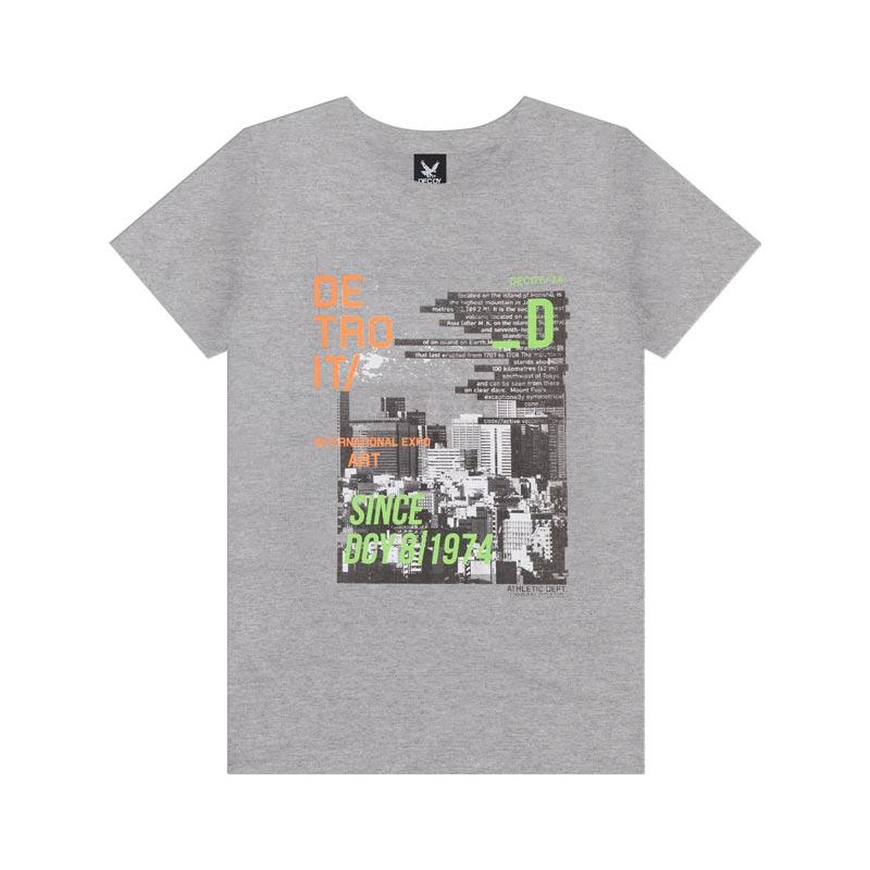 Camiseta Decoy Adulto Masculino Detroit Cinza