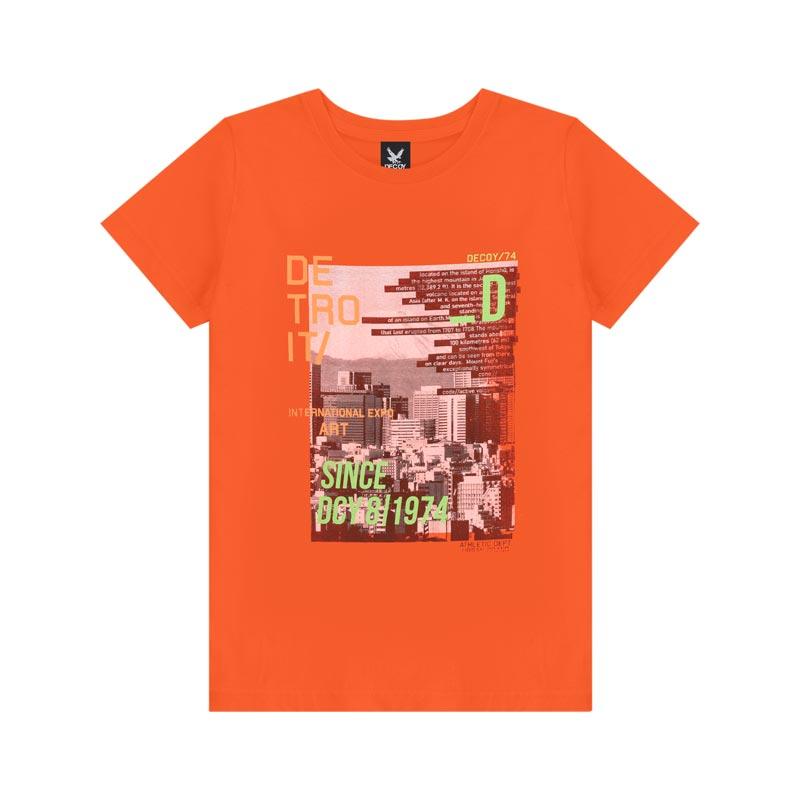 Camiseta Decoy Adulto Masculino Detroit Laranja