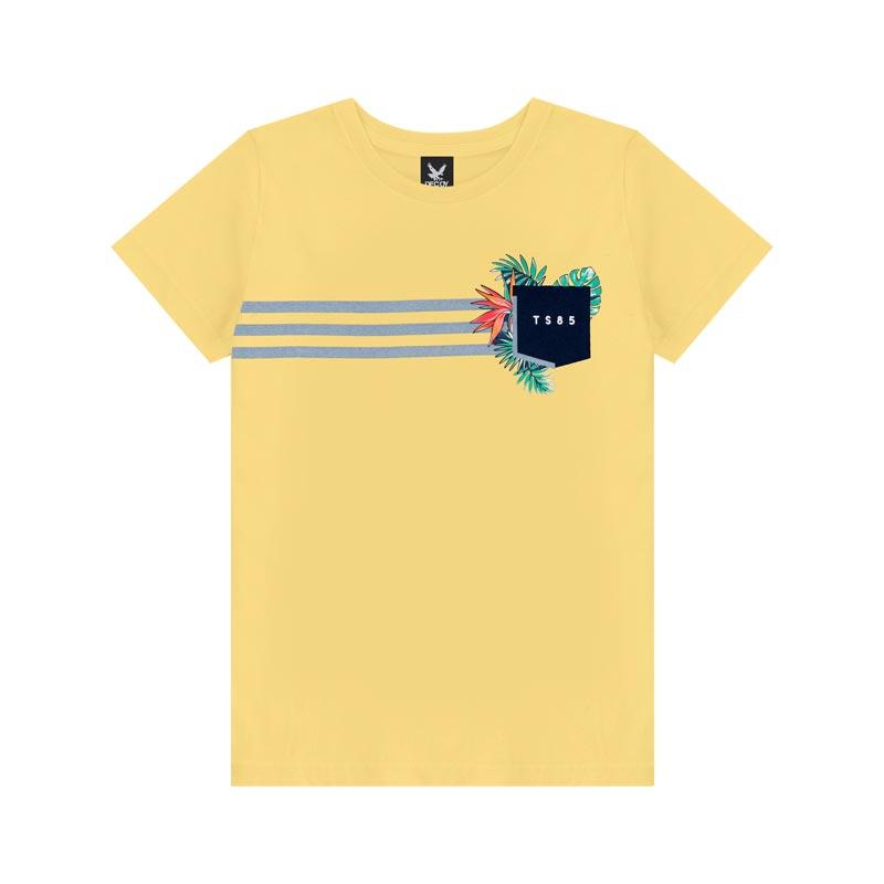 Camiseta Decoy Adulto Masculino Estampada Amarelo