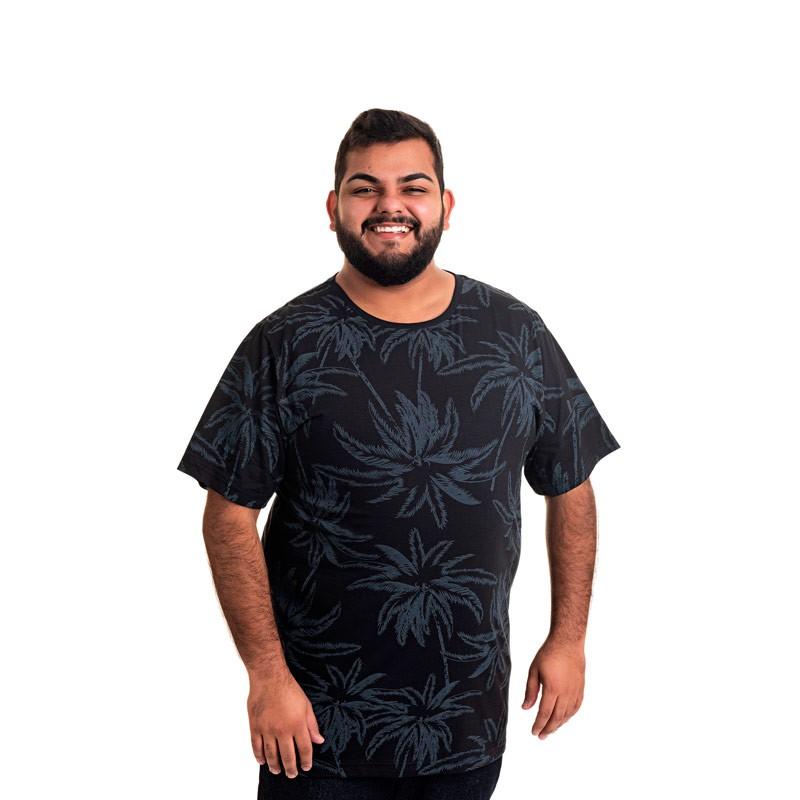 Camiseta Decoy Plus Size Masculino Estampada Preto