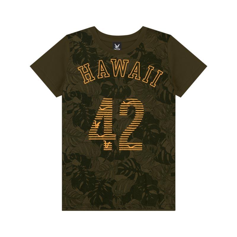 Camiseta Decoy Adulto Masculino Hawai Verde