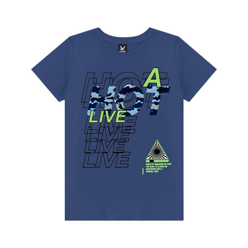 Camiseta Decoy Adulto Masculino Live Azul