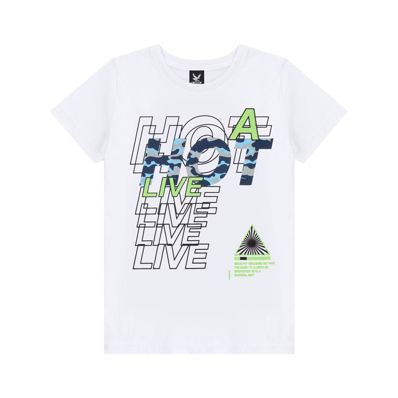Camiseta Decoy Adulto Masculino Live Branco