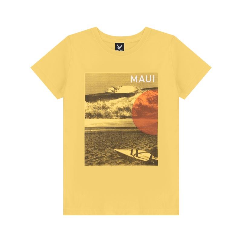 Camiseta Decoy Adulto Masculino Maui Amarelo