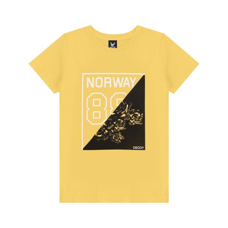 Camiseta Decoy Adulto Masculino Norway Amarelo