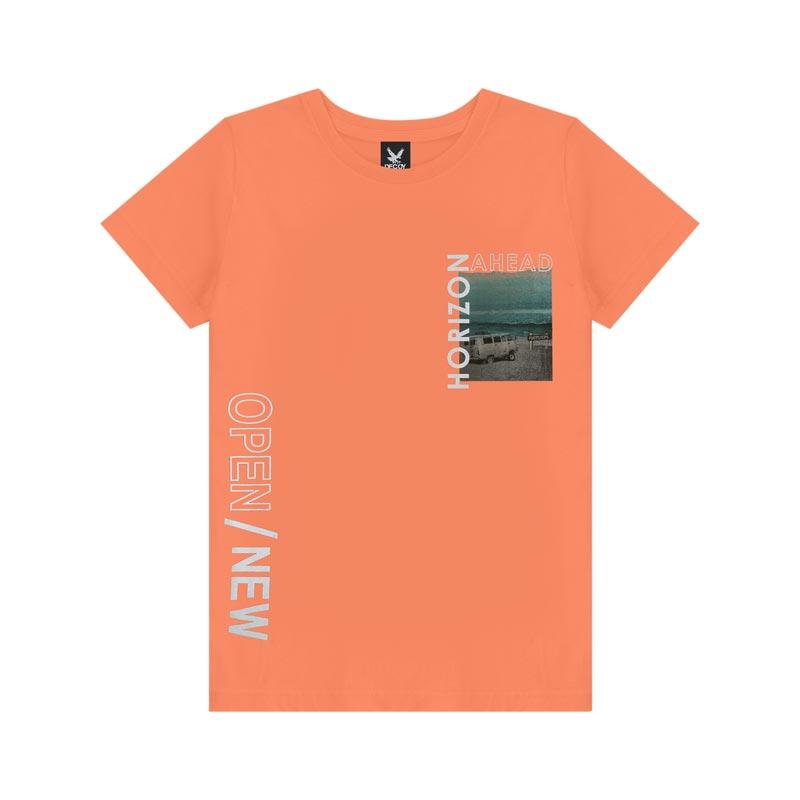 Camiseta Decoy Adulto Masculino Open Laranja