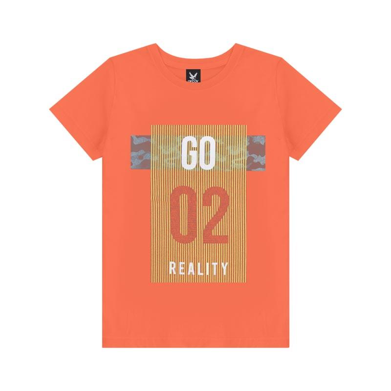 Camiseta Decoy Adulto Masculino Reality Laranja