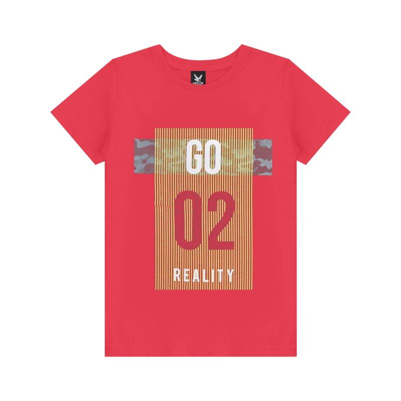 Camiseta Decoy Adulto Masculino Reality Vermelho