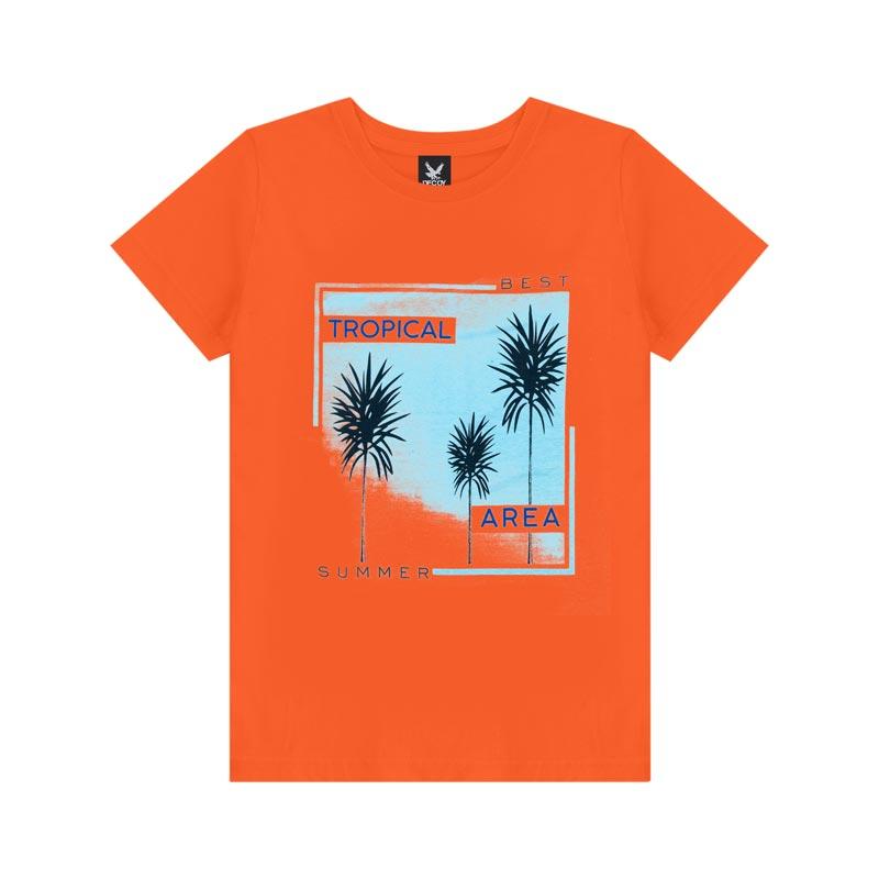 Camiseta Decoy Adulto Masculino Tropical Laranja