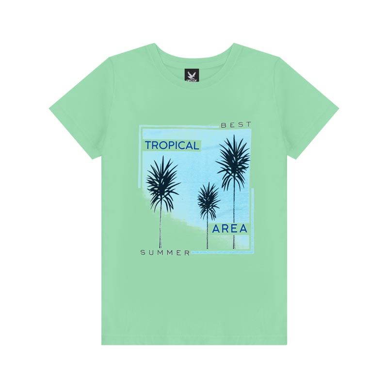 Camiseta Decoy Adulto Masculino Tropical Verde