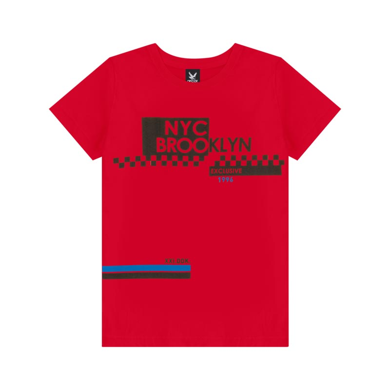 Camiseta Decoy Juvenil Masculino Brooklyn  Vermelho