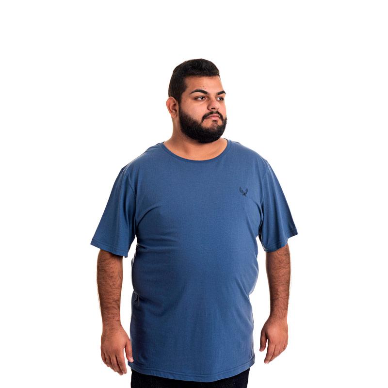 Camiseta Decoy Plus Size Masculino Básica Águia Azul -