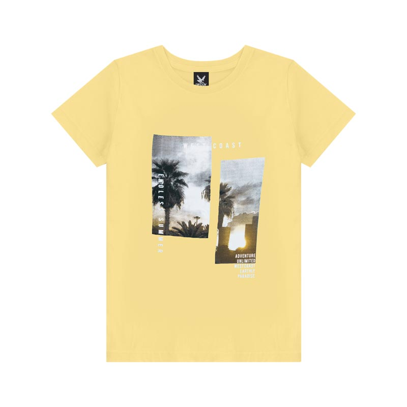 Camiseta Decoy Plus Size Masculino Estampada Amarelo