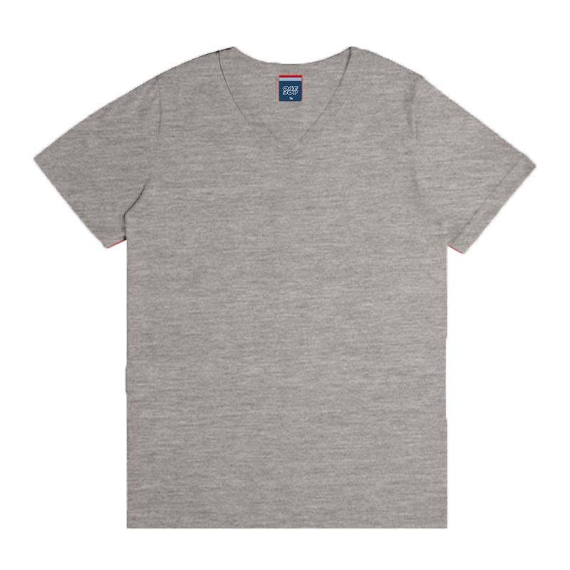 Camiseta DDK em Decote V Infantil Menino Básica Cinza