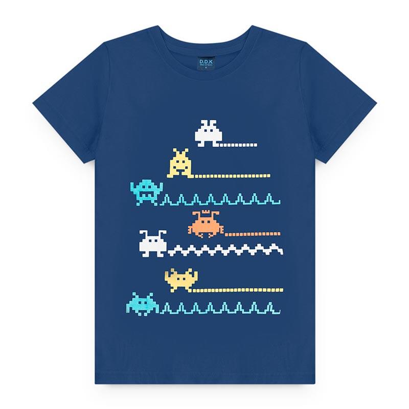 Camiseta Estampado  em Meia Malha Game Azul