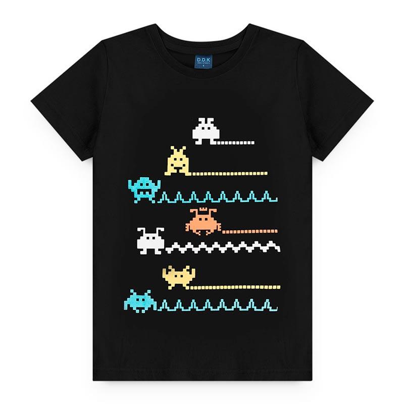 Camiseta Estampado  em Meia Malha Game Preto