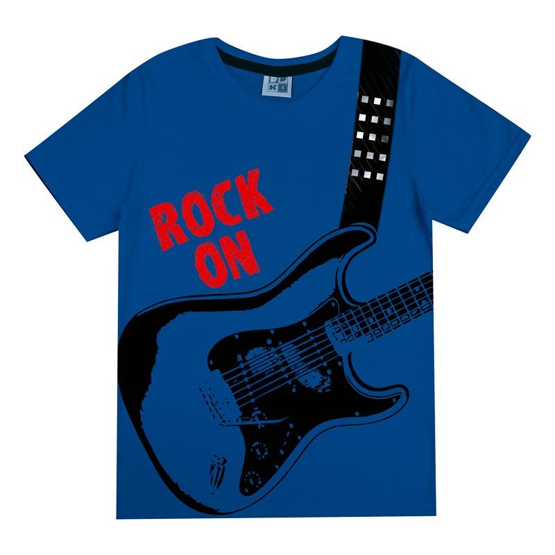 Camiseta DDK Infantil Menino Rock Azul