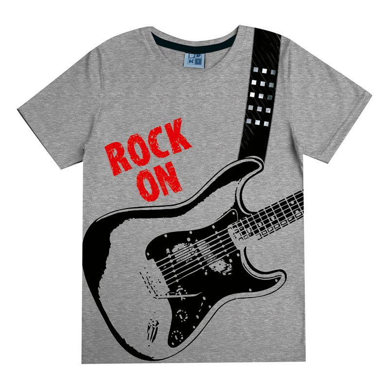 Camiseta DDK Infantil Menino Rock  Cinza