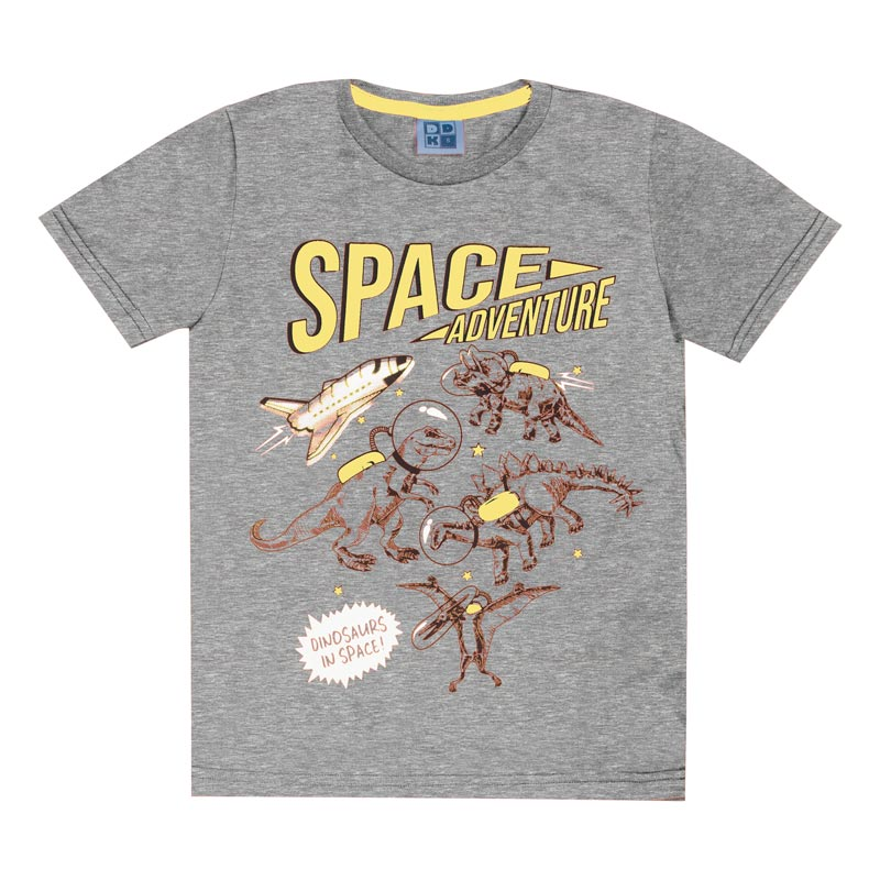 Camiseta Infantil DDK Menino Space Cinza