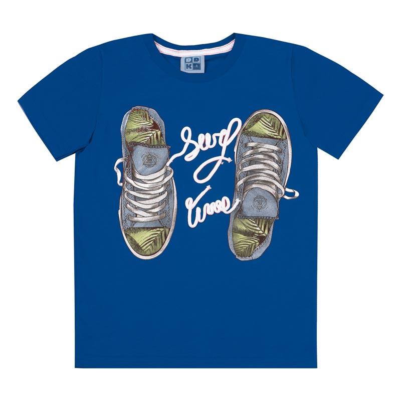 Camiseta Infantil DDK Menino Tênis Azul