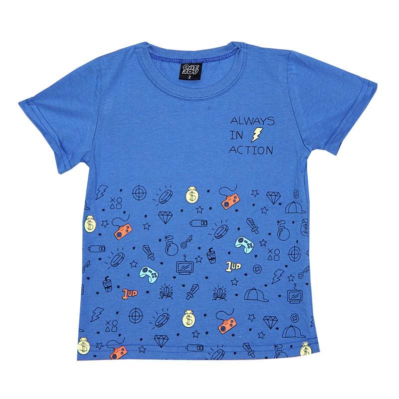 Camiseta Infantil Menino Always Azul