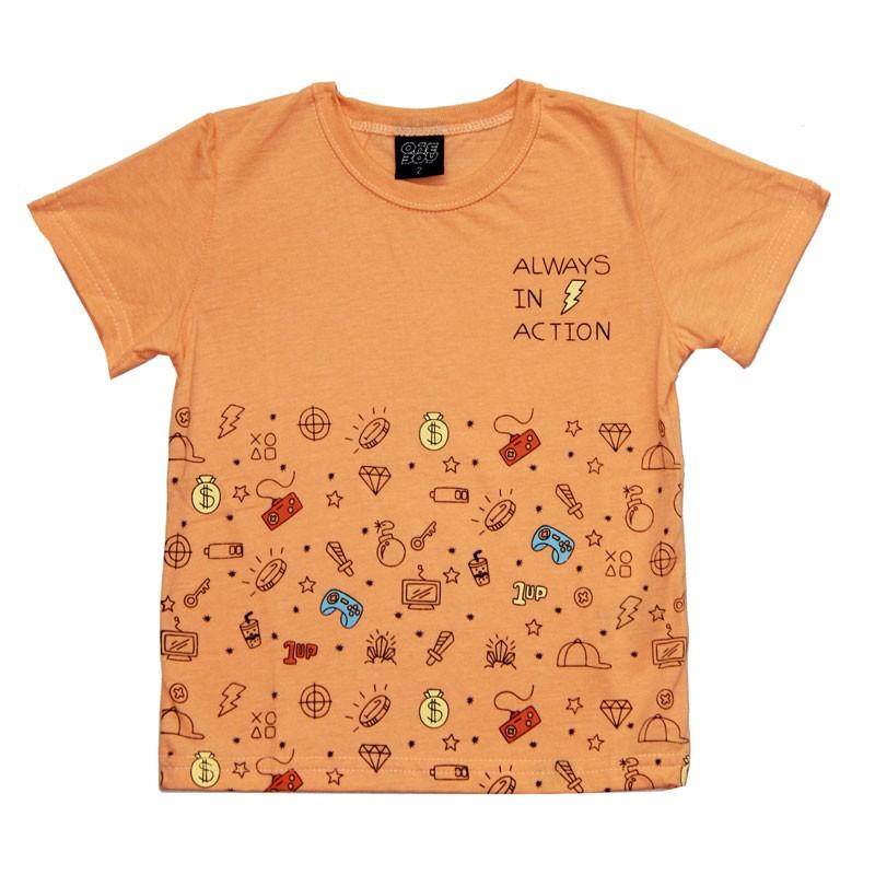 Camiseta Infantil Menino Always Laranja