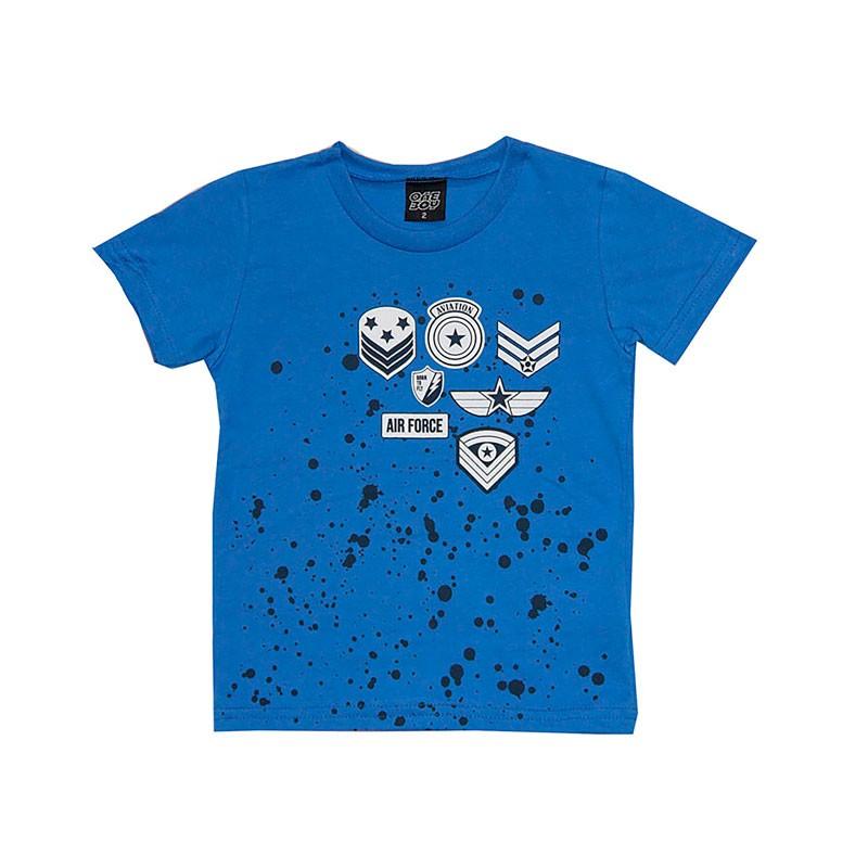 Camiseta Infantil Menino Aviação Azul