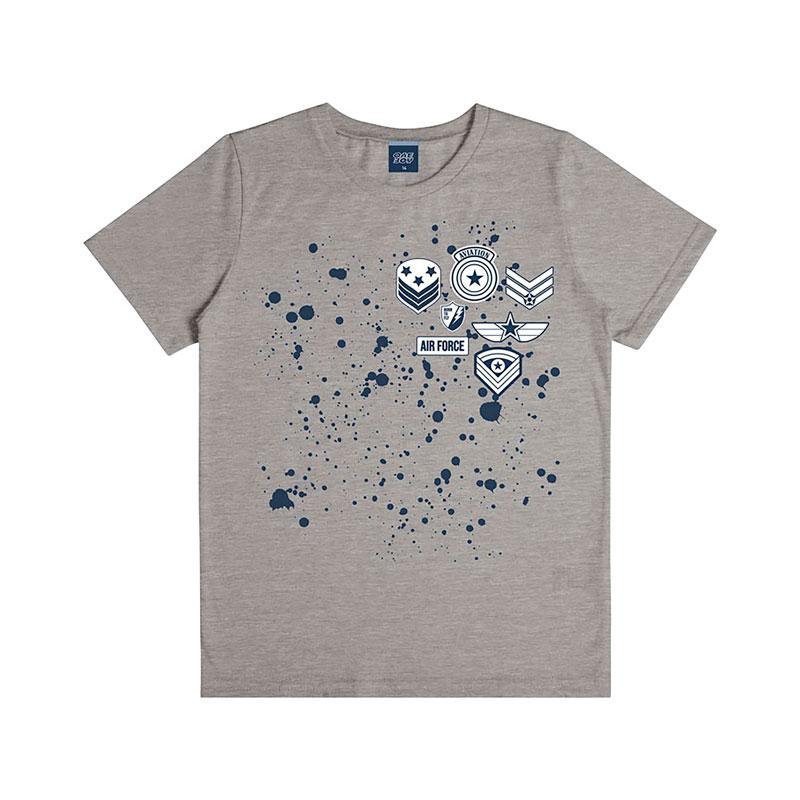 Camiseta Infantil Menino Aviação Cinza